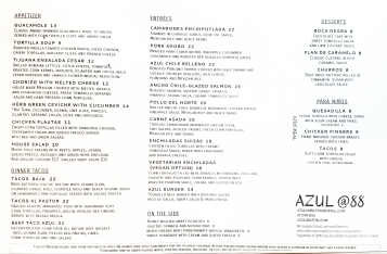 Regular Menu Front